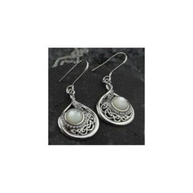 Sterling Silver Pearl Drop Earrings made in Ireland