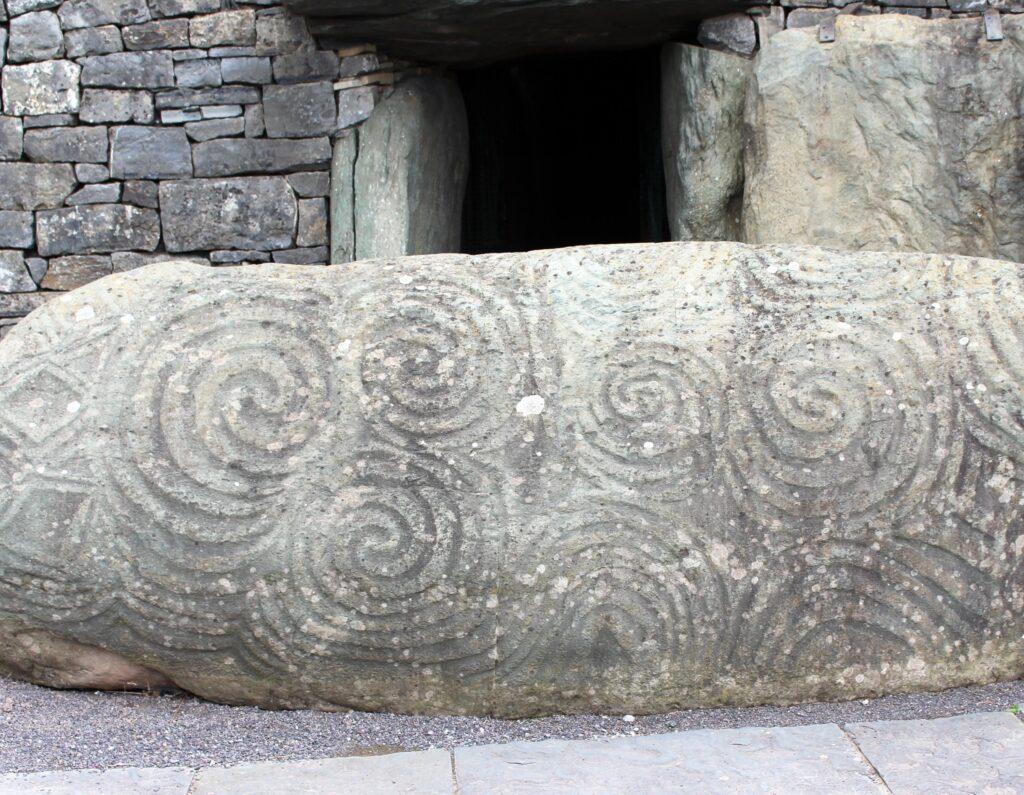 Celtic Spirals Entrance Stone at Newgrange