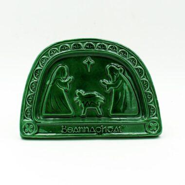 Gaelic Nativity Plaque, handmade in Ireland by Callura Pottery